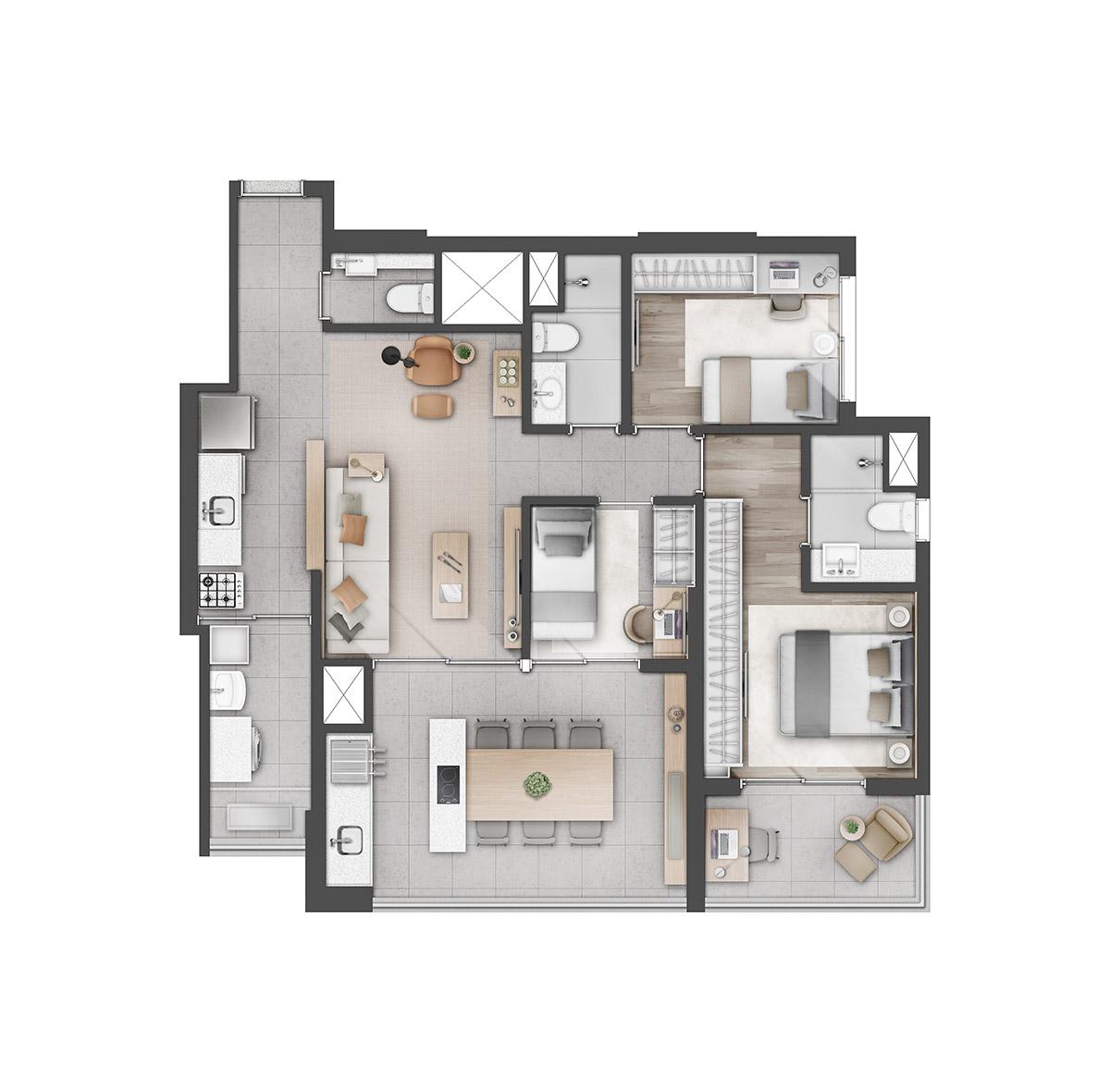 ALTA ROMANA by REM - 2 Dorms.