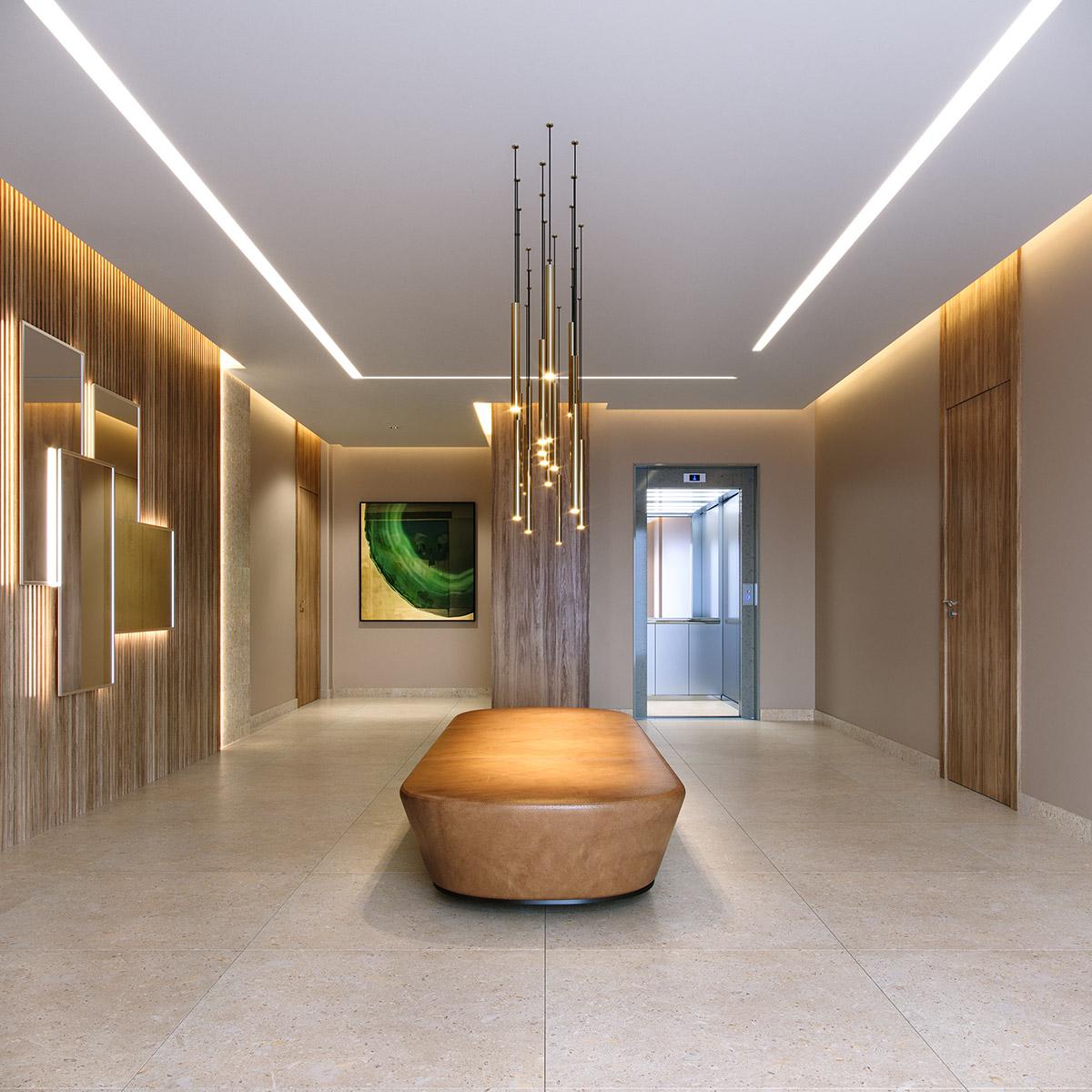 ALTA ROMANA by REM - Perspectiva Artística do Lobby Residencial