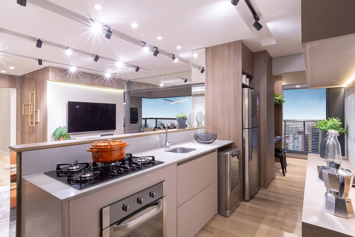 Cozinha do decorado do Apto. de 104 m²
