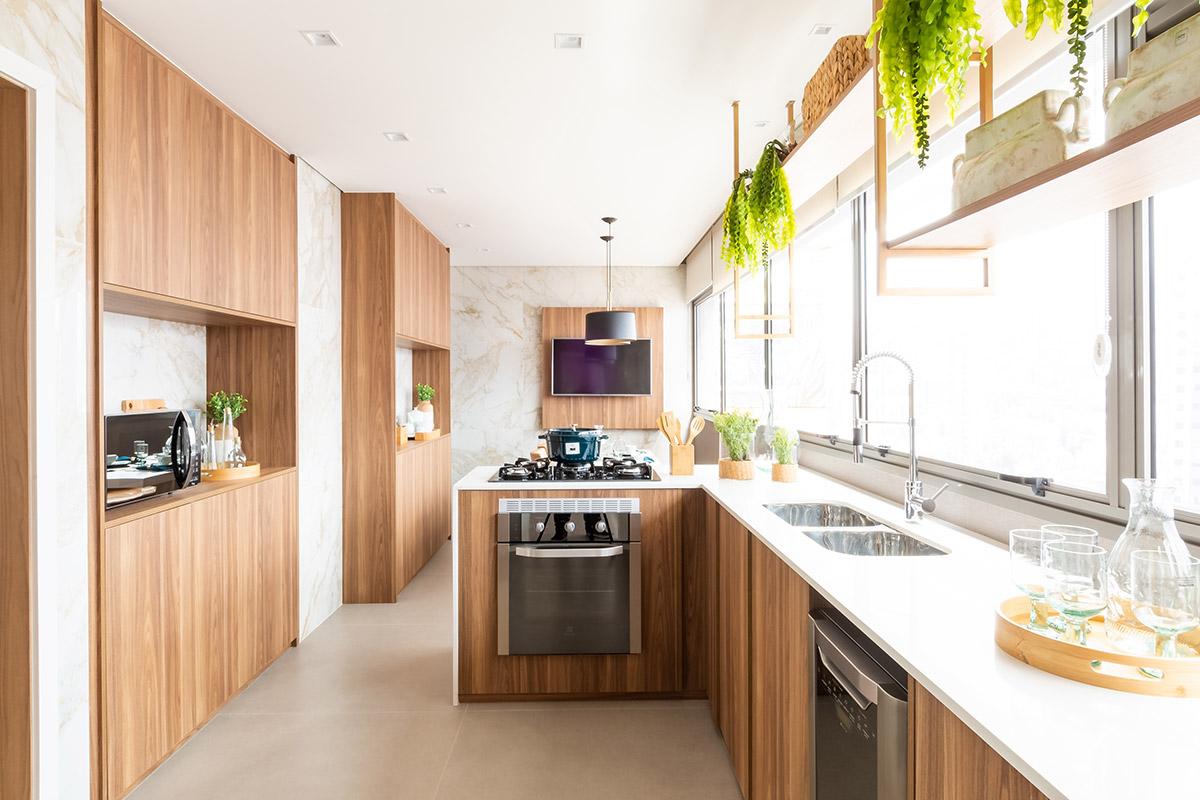Cozinha do decorado do Apto. de 184 m²