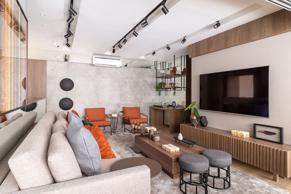 Living do decorado do Apto. de 104 m²