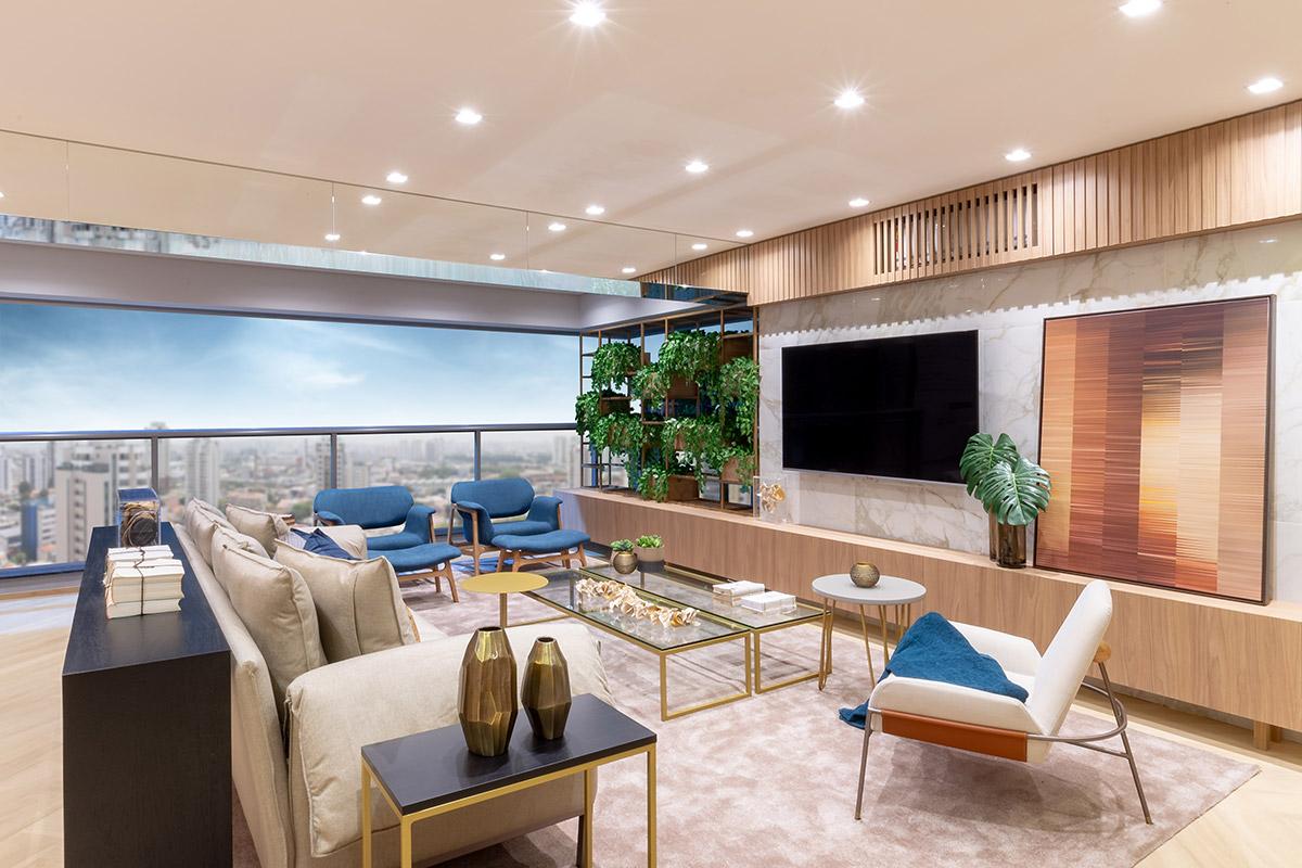 Living do decorado do Apto. de 184 m²