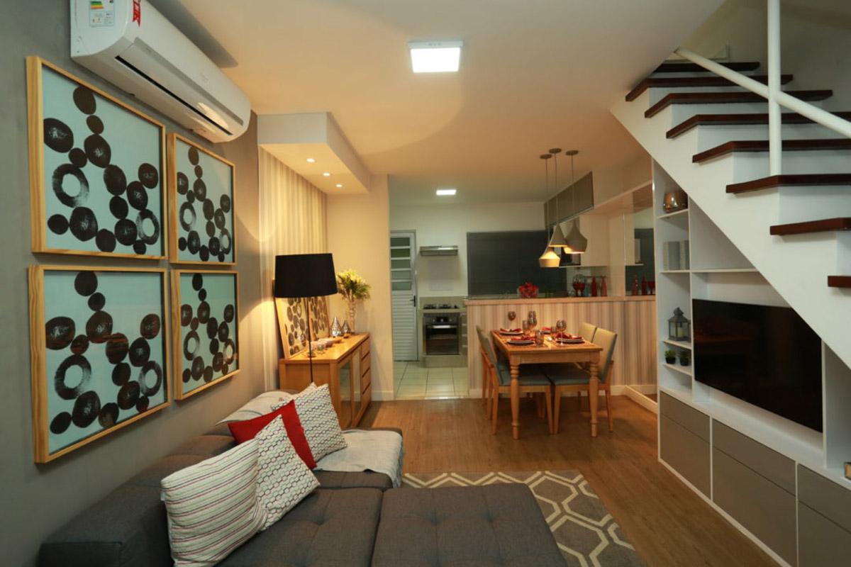 Parque das Cerejeiras - Living do Apartamento Decorado