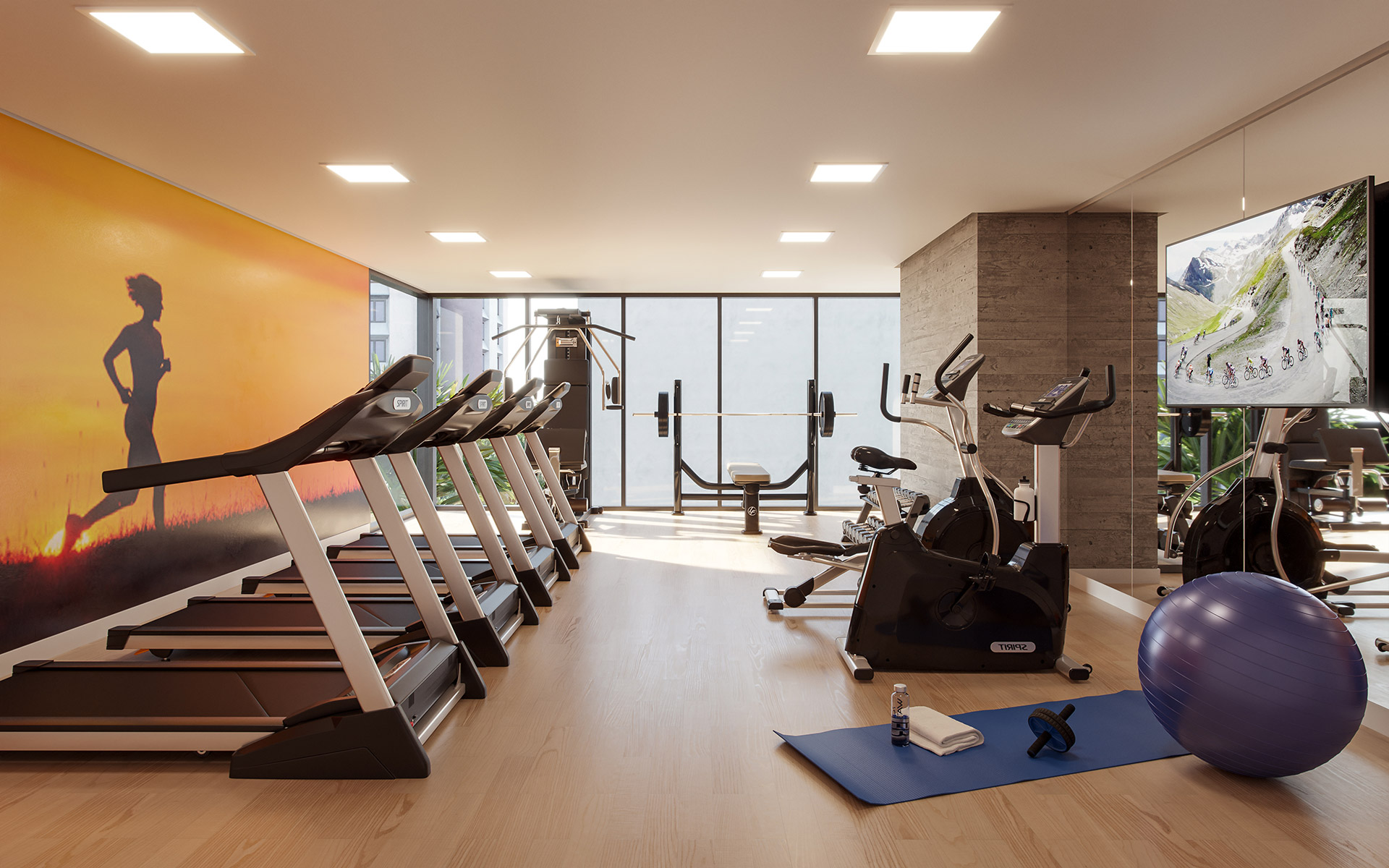 D'House Hospedagem - Perspectiva Artística do Fitness