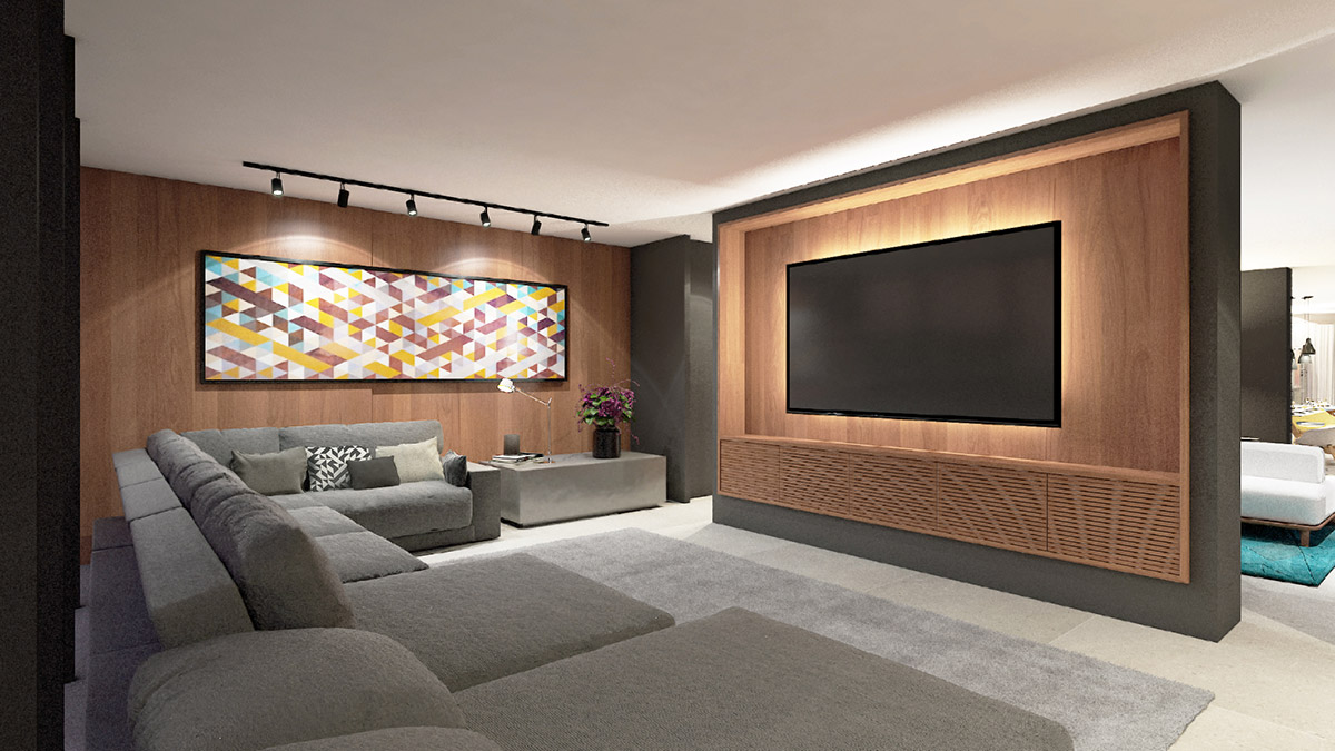 VA 433 - Perspectiva Artística do Home Theater