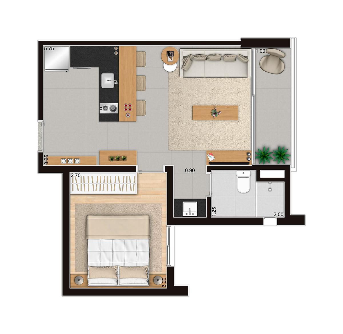D'House Hospedagem - 1 Dorm.
