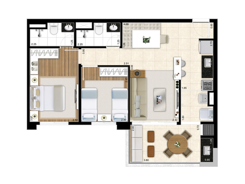 Reserva Parque - 02 dormitórios