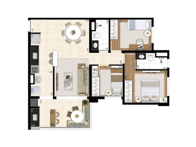 Reserva Parque - 03 dormitórios
