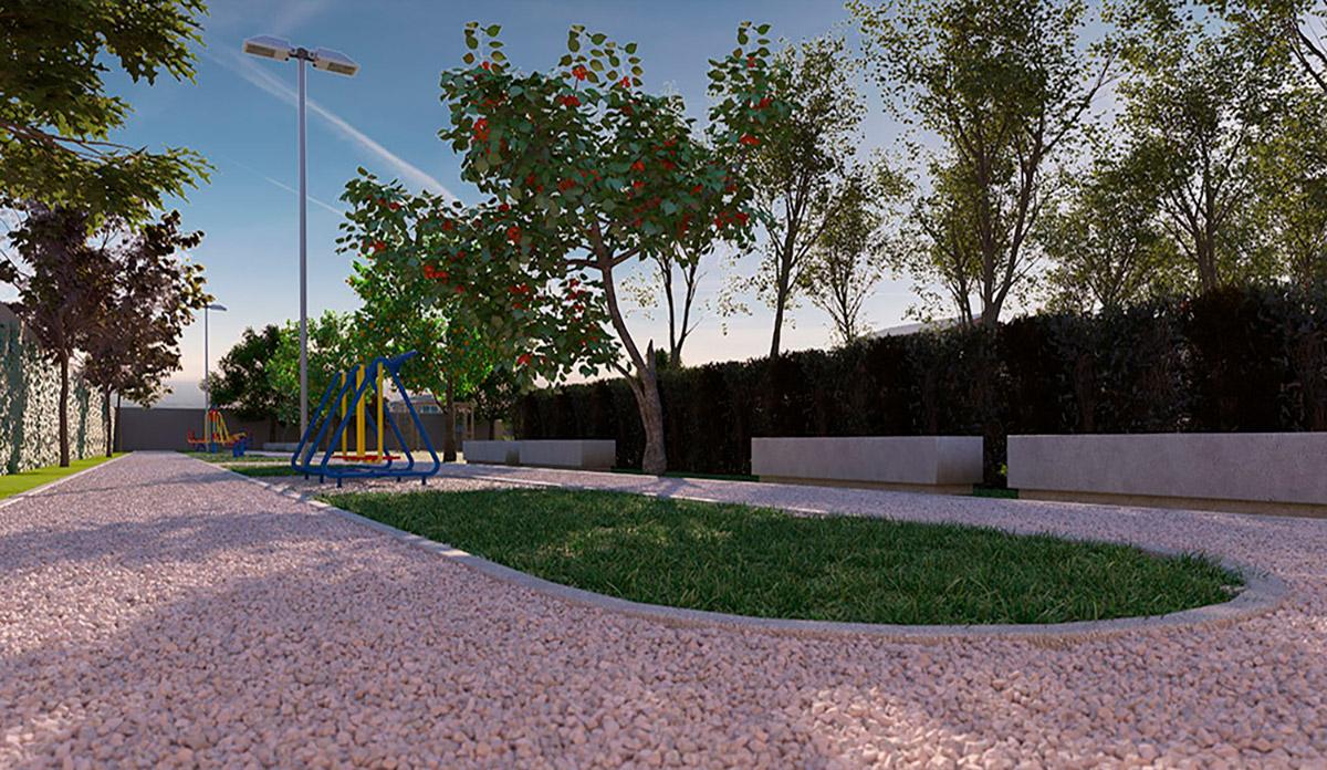 Parque das Cerejeiras - Perspectiva Artística da Praça